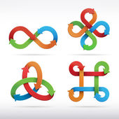 Infinity symbol icons — Stock Vector
