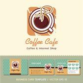Café café — Vecteur