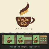 Kaffee café — Stockvektor