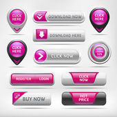 Knop set websites elementen — Stockvector