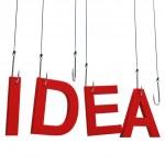 """Idea"" hanging on hook. — Stock Photo #42570429"