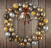 Christmas wreath decoration — Stock fotografie