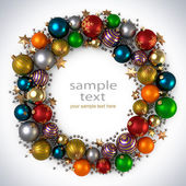 Christmas wreath decoration — Foto Stock