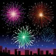 Fireworks night. — Stock Vector