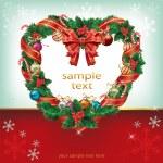 Christmas Wreath Decoration — Stock Vector