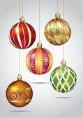 Kerst ornamenten — Stockvector