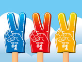 Foam hands — Stock Vector