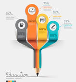 Education pencil Infographics — Stock Vector