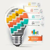 Lightbulb staircase idea — Διανυσματικό Αρχείο
