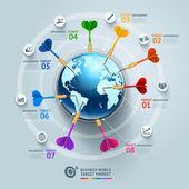 Business world target mar — Stock Vector