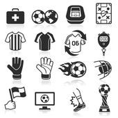Soccer icons — Stock Vector