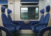 Train coach interior — Stock Photo