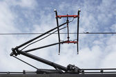 Train pantograph — Stock Photo