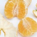 Peeled clementine — Stock Photo #20353293