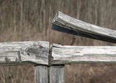 Broken fence — Stock Photo