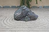 Stone in zen garden — Stock Photo