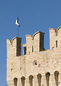 Torre medieval, fermo, italia — Foto de Stock