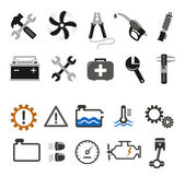 Car mechanic and service icons — Stock Vector