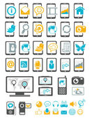 Modern gadget and mobile device icons — Stock Vector