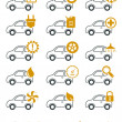 Car repair and service icons - Stockvektor