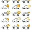 Car repair and service icons - Image vectorielle