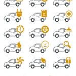 車の修理やサービス アイコン — ストックベクタ