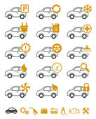 Car repair and service icons — Stock Vector