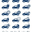 Car service icons blue set — Stock Vector