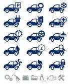 Car service icons blue set — Cтоковый вектор