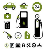 Benzine station icons set — Stockvector
