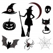 Halloween icons and emblems — Stockvektor