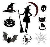 Halloween icons and emblems — Stock Vector