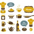 Kitchen and restaurant icons — Stock Vector #13117960