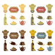 Restaurant menu icons set — Stock Vector