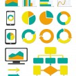 Business chart and info graph icons set — Stock Vector