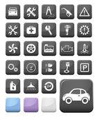 Auto makinist ve servis düğmeleri — Stok Vektör