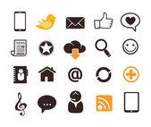 Icônes de communication internet — Vecteur