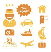 Travel icons set — Stock Vector