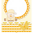 Baby sheep sunny scrapbook set - Stock Vector