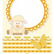 Baby sheep sunny scrapbook set — Stock Vector