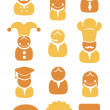 Occupation icons set — Stock Vector