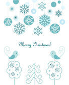 Christmas balls and snowflakes background — Stock Vector