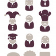 Profession icon set — Vector de stock #14894001