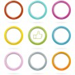 Colorful web buttons set — Stock Vector