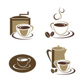 Coffee cup set — Stock Vector