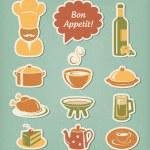 Restaurant menu icons set — Stock Vector