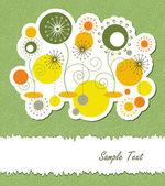 夏季花卉抽象背景 — 图库矢量图片