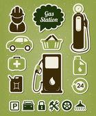 加油站图标集 — 图库矢量图片