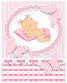 Sleeping baby girl — Stock Vector