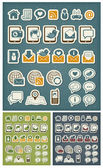 Internet communication icons — Vector de stock